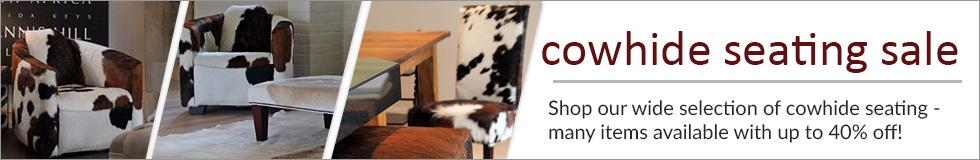 Cowhide Seating On Sale!